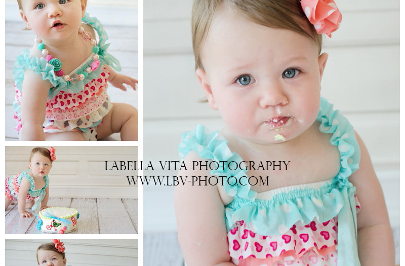 Child Photograph- First birthday Cake Smash- Sweet baby A- Wilmington, Delaware