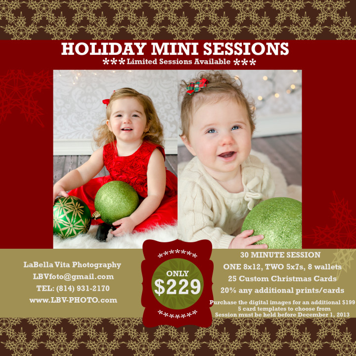 Christmas Card Specials for 2013