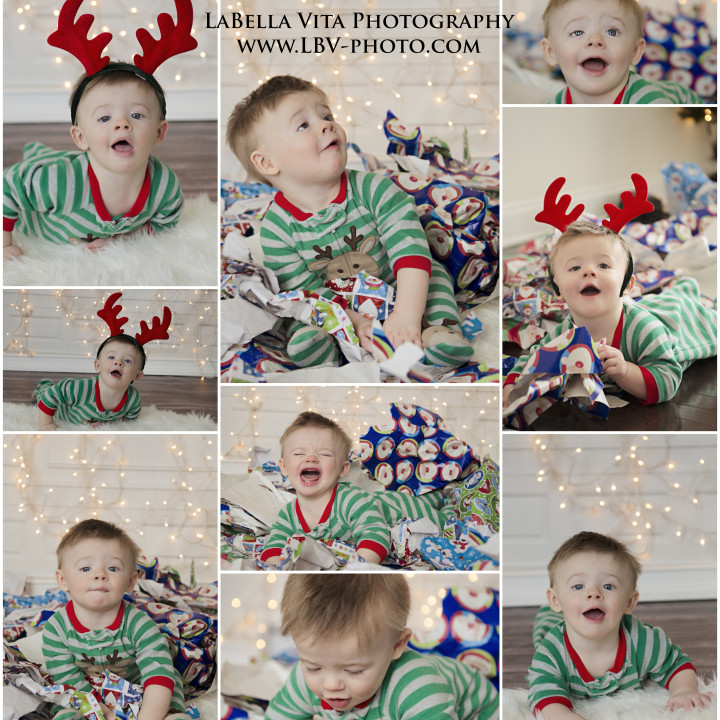 Child Photography Jackson's first Christmas
