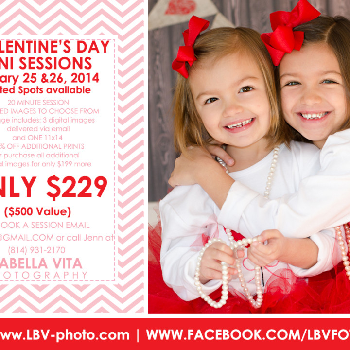 LaBella Vita Photography's Valentine's Day Mini Session Announcement!!!!!