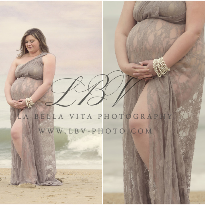 Beach Maternity Photography | Rehoboth Beach, DE | Alison & Jon