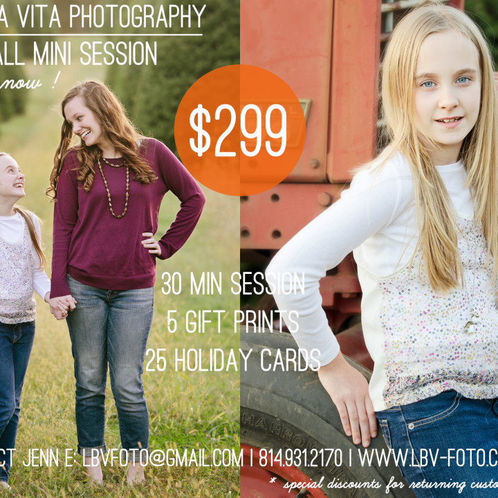 Fall 2015 Mini Sessions | Studio and outdoor locations | Odessa, DE | Lewes, DE| Wilmington, DE